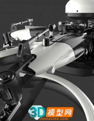 Delivery DHL Drone High Poly插图2