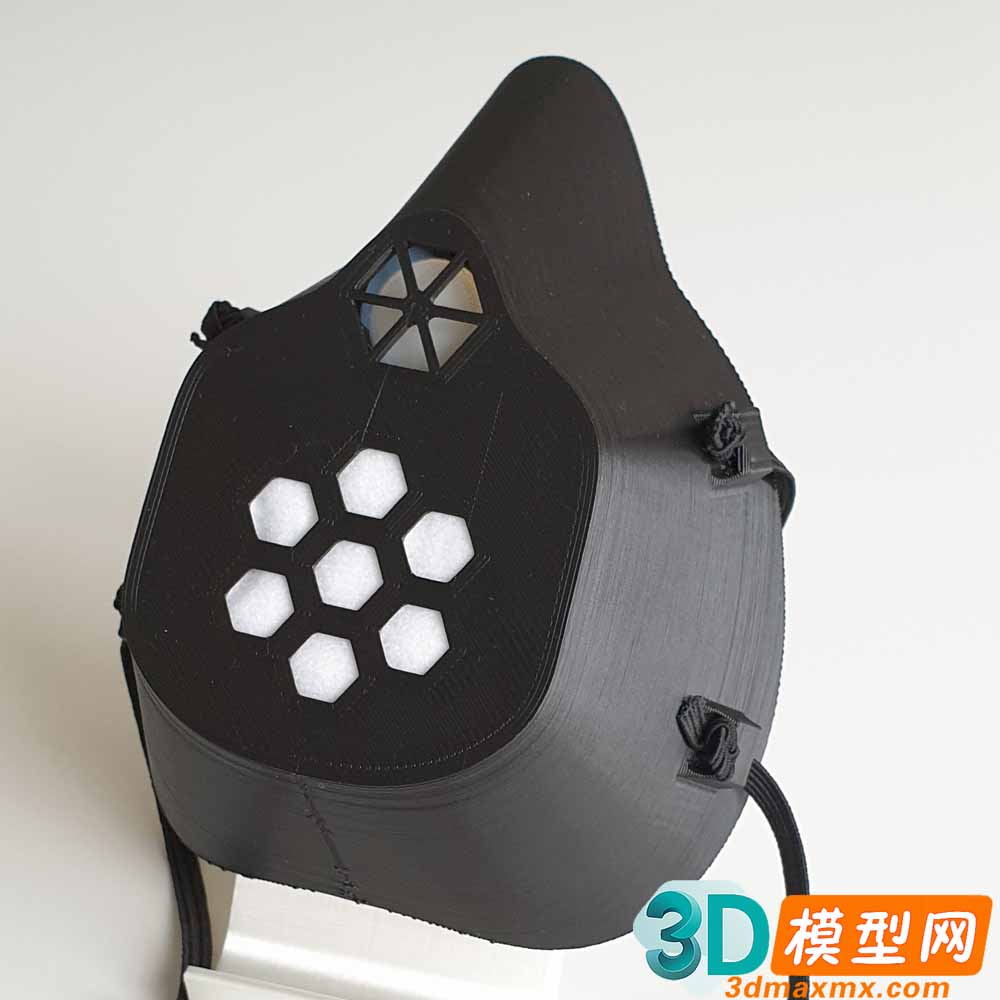 Covid 19 Mask with Exhale Valve 3D print插图