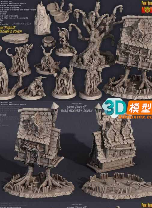 Grim Forest – Baba Hecuba's Coven – 3D Print插图