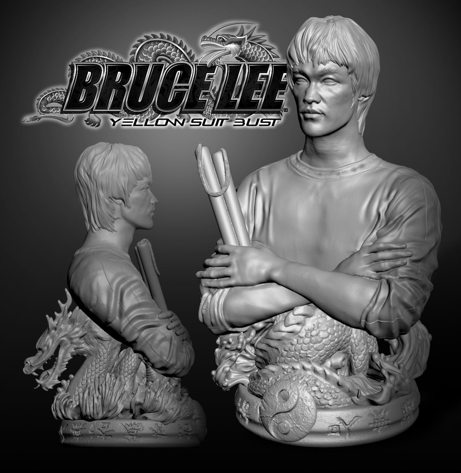 Bruce Lee Yellow Suit Bust插图