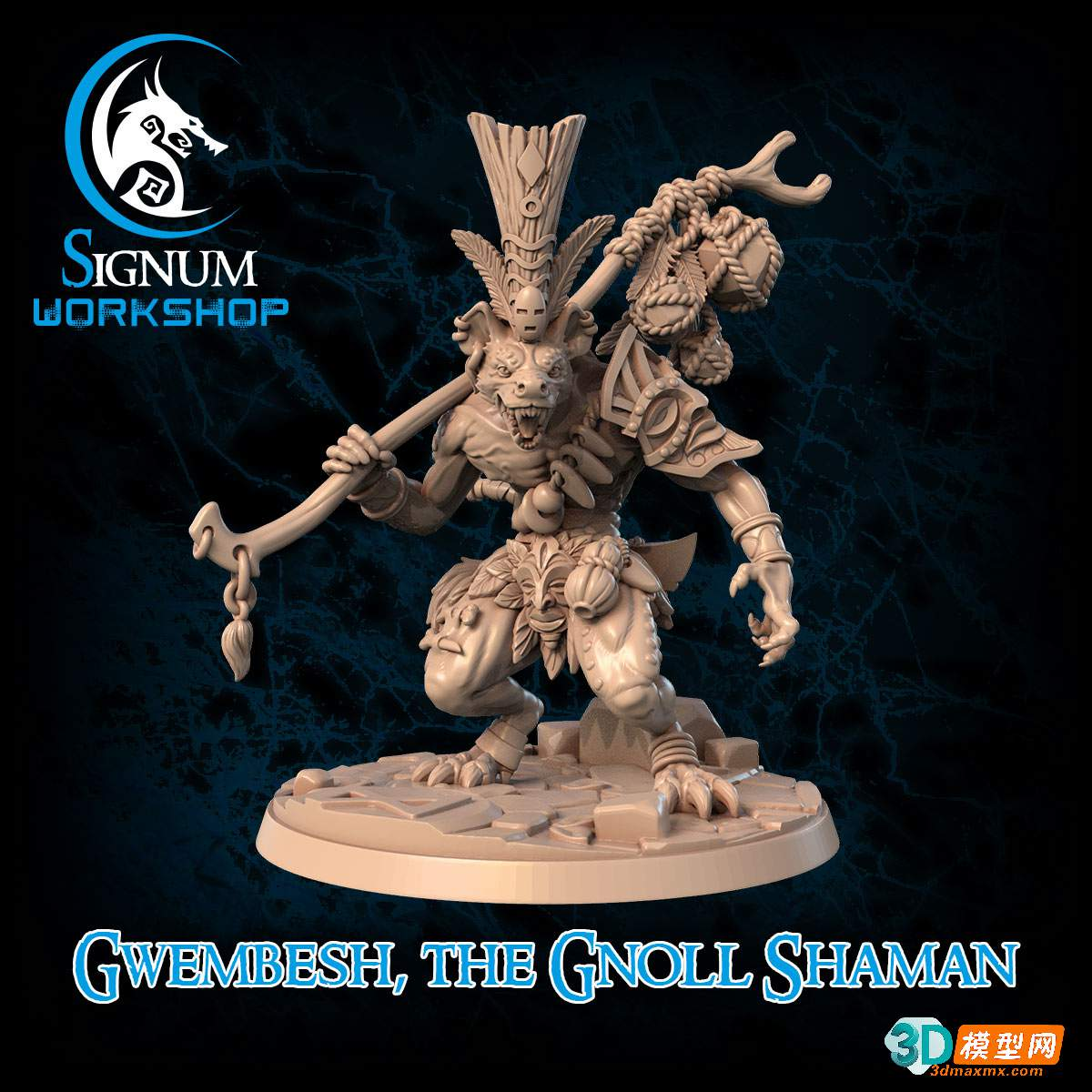 gwembesh the gnoll shaman + Pre supports插图